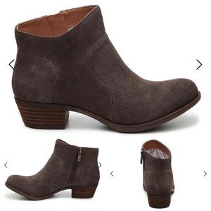 Lucky Brand Brolley Bootie Gray Suede